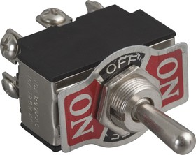 KN3(B)-223A-A3, Тумблер (ON)-OFF-(ON) (10A 250VAC) DPDT 6P