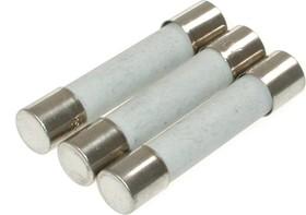 C630 (ABE), 10 A, 250 В, 6.35х30 мм, Предохранитель керамический