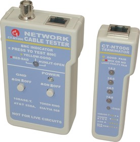 CT-NT006, Тестер кабеля BNC/RJ45