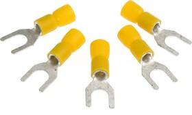"""FYY6, Набор клемм типа """"U"""" 6.4мм. 10 штук, желтый"""