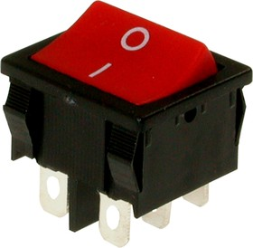 MRS-202A-C3 (красный), Переключатель ON-ON (6A 250VAC) DPDT 6P