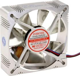 AL8025H12C, Вентилятор 12В, 80х80х25мм , 1 подш. качения/1 подш. скольжения, 3000 об/мин, 2 pin