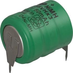 80 BVH3A3H (3 ножки), Аккумулятор никель-металлгидридный NiMH 80mAh (1шт) 3.6В