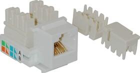 F2450-1, Розетка 8P8C в коробку белая