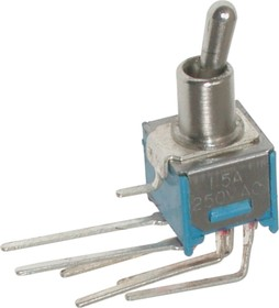 SMTS-202-2C4, Тумблер ON-ON (1.5A 250VAC) DPDT 6P