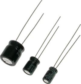 ECAP (К50-35 мини), 100 мкФ, 25 В, 8х7мм, Конденсатор электролитический алюминиевый миниатюрный