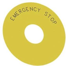 3SU1900-0BC31-0DA0, ROUND BACKING PLATE FOR EM. STOP MUSH