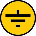 "Фото 2/3 Символ ""Заземление"" 30х30 IEK YPC20-ZAZEM-1-096"