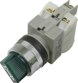 CA25-SS211N, Переключатель зеленый c подсветкой Ф25