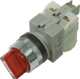 CA25-SS211N(R), Переключатель красный c подсветкой Ф25