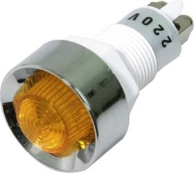 Фото 1/2 N-836Y (CA-12NY) (PA-12-Y), Лампа неоновая Ф12 жёлт