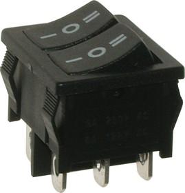 MRS-2103A-C0, Переключатель черный ON-OFF-ON (6A 250VAC) DPDT 6P