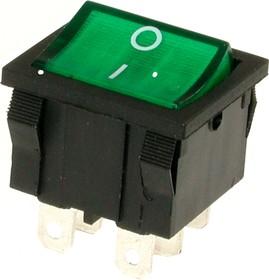 Фото 1/2 MIRS-202A-4C3 (зеленый), Переключатель 6pin ON-ON (10A 125VAC, 6A 250V, 15A 12VDC)