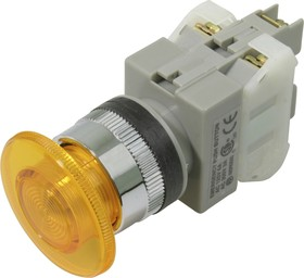 CA25-PM11N (желтая), Кнопка с подсветкой Ф25