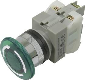 CA25-L11N (зеленая), Кнопка закручивающаяся с подсветкой Ф25