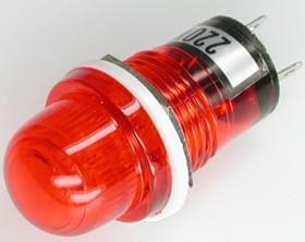 N-809R, Лампа неоновая с держателем красная 220V