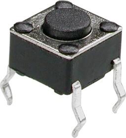 Фото 1/2 TC-0102 (TS-A1PS-130), Кнопка тактовая 6х6мм, h=4.3мм (SWT2) (0643HIM-130G)