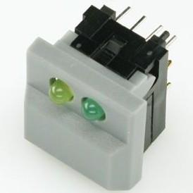 Фото 1/2 SP86-B2-9-2/3, Кнопка с двумя светодиодами (24В 0.05А)