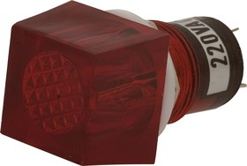 N-811R, Лампа неоновая с держателем красная 220V