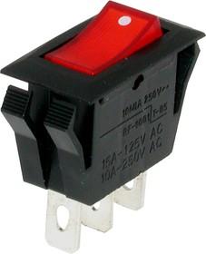 IRS-1-4C2, Переключатель красный с подсветкой ON-OFF (10A 250VAC) SPST 3P