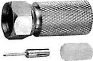 HYR-0806E (GF-806E) (F-7210E) (F-U213), Разъем F, штекер, RG-213, вкручивающийся (Twist-on)