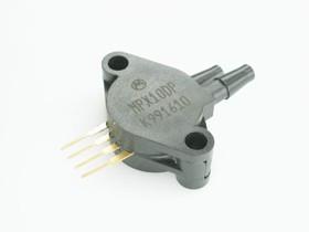 Фото 1/2 MPX10DP, датчик давления дифференциальный 10кПа 35мВ 3В 1.5% пластик 2 патр.