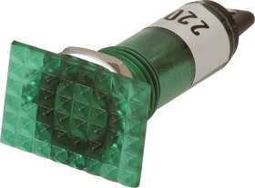 N-826G, Лампа неоновая с держателем зеленая 220V