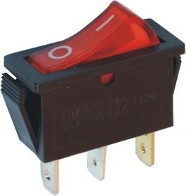 IRS-101-3C3 (красный), Переключатель с подсветкой ON-OFF (15A 250VAC) SPST 3P