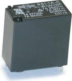851-1A-C 12VDC, Реле 1зам. 12В / 7A, 250V (OBSOLETE)