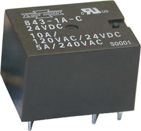 843-1B-C 24VDC, Реле 1разм. 24B / 5A, 240V