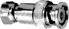 HYR-0153 (GB-153), Переходник, BNC штекер - F штекер (BNC-7049)