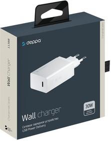Фото 1/2 11388, Зарядное устройство Deppa СЗУ USB Type-C, Power Delivery, 30Вт, белый, Deppa