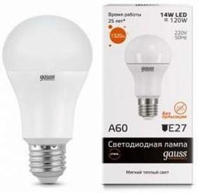 Фото 1/3 Лампа светодиодная Elementary A60 20Вт E27 3000К 1/10/40 Gauss 23219