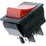 IRS-201-2C3 (красный), Переключатель с подсветкой ON-OFF (15A 250VAC) DPST 4P