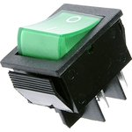 IRS-201-2C3 (зеленый), Переключатель с подсветкой ON-OFF ...