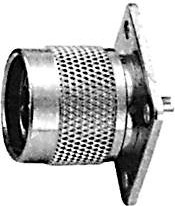 HYR-0308 (GN-308) (N-7308), Разъем N, штекер, фланец 4 отверстия (Panel jack)