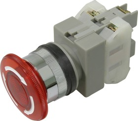 Фото 1/2 CA25-L11N (красная), Кнопка закручивающаяся с подсветкой Ф25