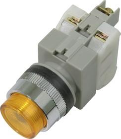 CA25-PE11N (желтая), Кнопка с подсветкой Ф25 (6A 250VAC)
