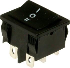 MRS-202A-C0, Переключатель черный ON-ON (10A 125VAC; 6A 250VAC) DPDT 6P