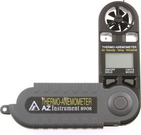 AZ 8908, Измеритель скорости и температуры воздушного потока, термоанемометр (портативный)