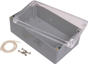 Фото 1/2 G373C, Корпус для РЭА 200х120х75 мм, пластик, с прозрачной крышкой