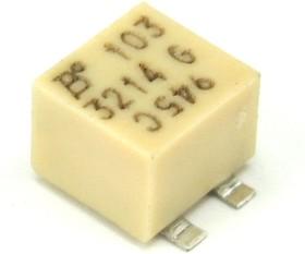 Фото 1/2 3214G-1-103E, 10 кОм, 5 оборотов, Резистор подстроечный