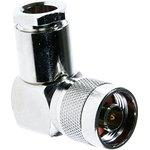 HYR-0305E (GN-305E), Разъем N, штекер угловой, RG-213, зажим (Clamp)