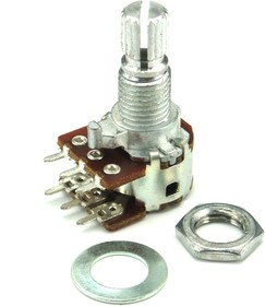 Фото 1/2 RK-1233G1-B1K, L15KC, 2 х 1 кОм, Резистор переменный
