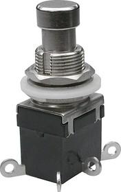 PBS24-202, Кнопка металлическая ON-ON (2A 250VAC) DPDT 6P