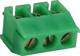 350-031-12(14) (ED350V-03P), Клеммник, 3-контактный, 3.5