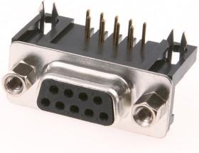Фото 1/2 DRB- 9FB (DS1037-01 09F), Розетка 9 pin на плату 9.4мм