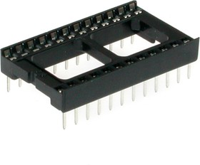 Фото 1/4 SCL-24 (DS1009-24AW), DIP панель 24 контакта широкая