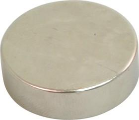 D 27х8, N35H, Магнит диск до 13.13 кг (покрытие Ni)