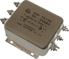 DL-25EB3, 25А, Трехфазный сетевой фильтр
